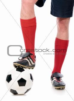legs of soccer player
