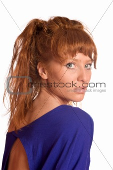 young redhead woman