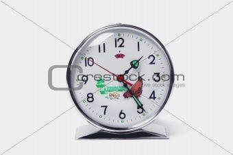Isolated retro table clock