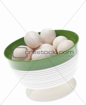 Bowl of Boiled Quail Eggs