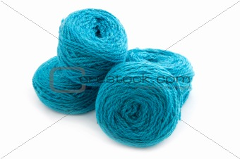 Yarn on white