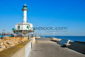 an old lighthouse restored, in Tarragona, Spain