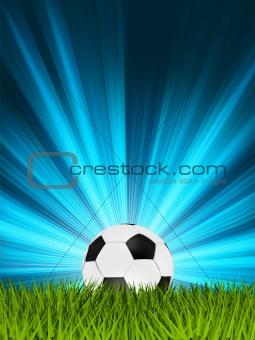 Football or soccer ball on grass. EPS 8