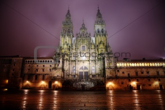 Cathedral in Santiago de Compostella