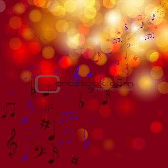 Abstract colourful background with note