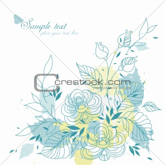 Abstract flowers background with