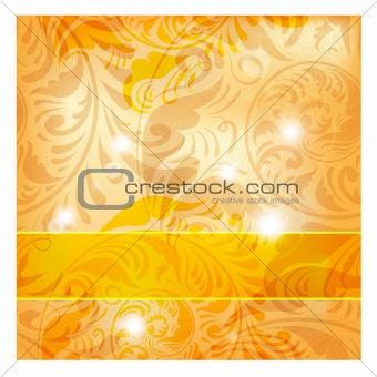 frame on seamless floral vintage background