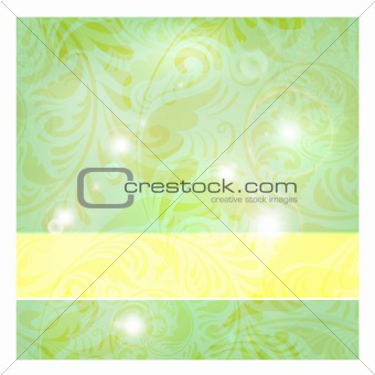 frame on seamless floral vintage background