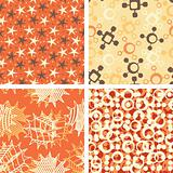 four abstract patterns