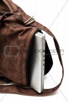 modern laptop in a bag