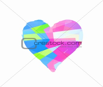 abstract heart symbol