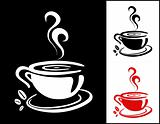 Cup of coffee background