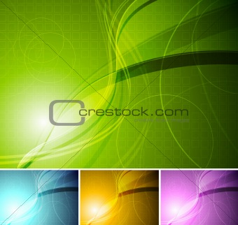 Colourful stylish backgrounds