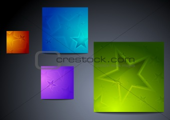 Colourful star backgrounds