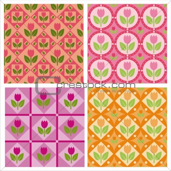 cute tulips patterns