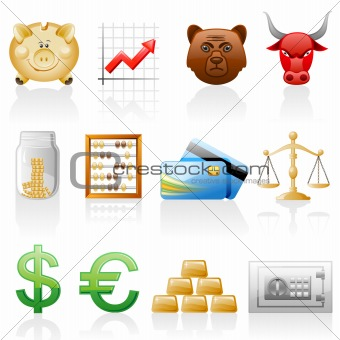 Finance icon set.