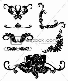 Floral Design Elements. Vector