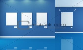 blue art gallery