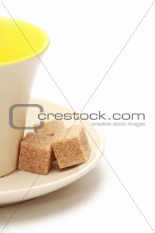 Cup and cane sugar
