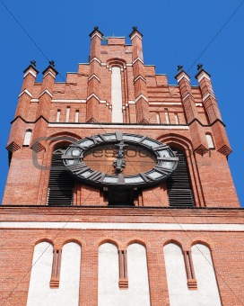 Top of tower with clock