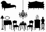 antique furniture, vector