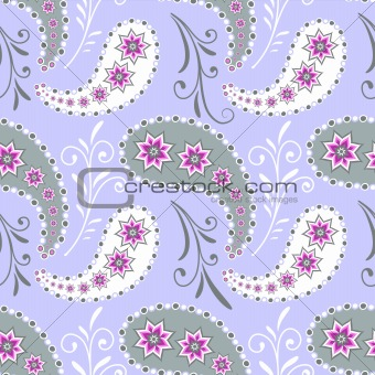 Seamless grey floral pattern