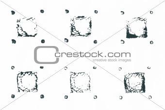 Acrylic paint symbols set