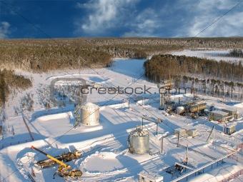 Aerial refinery 20 sky