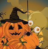 Halloween pumpkin vector illustration.