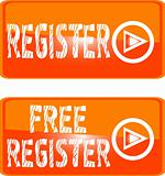 register web button orange sign