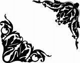 Two Elements For Design, Corner Flower. Vector