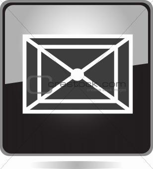 black Letter Icon button