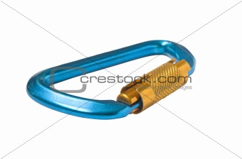 Blue carabiner