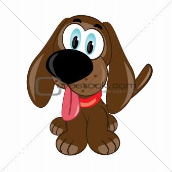 Cartoon puppy.