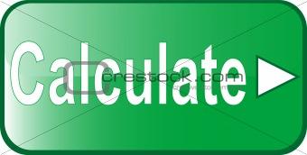 calculate green Button Web icon
