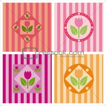 cute tulips backgrounds