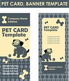 Vector illustration of dog symbol zoo shop business card
