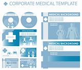 Blue Corporate medical presentation, report template. Human back
