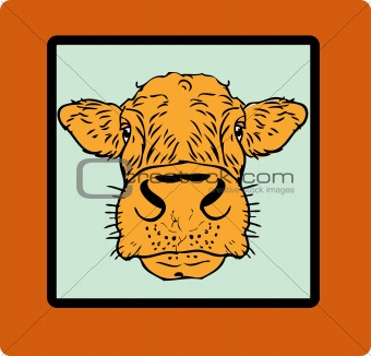Cow card, paper poster