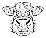 Cow face tattoo icon
