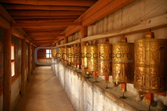 Prayer Wheels. Tibet