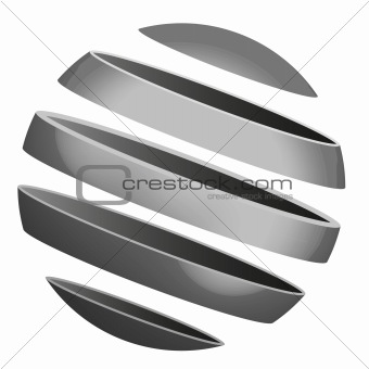 sliced metal globe