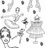 Ballet tattoo icons set woman
