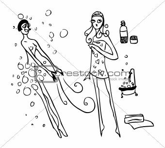 Beauty Spa Woman Bath and Health tattoo