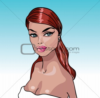 Beauty Woman portrait vector