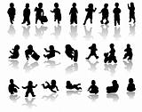 children silhouettes