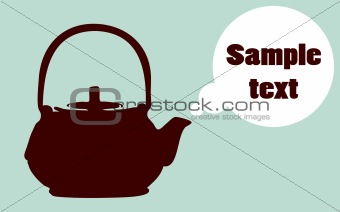 Abstract vector Boiling teapot silhouette  poster, preparation