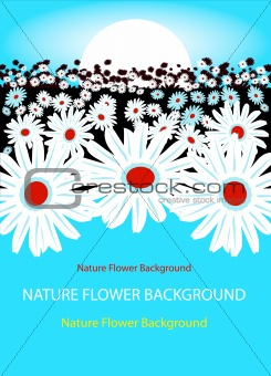 Abstract Vector floral background, fake flower paper, beautiful