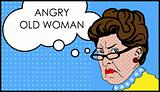 Angry woman with glasses, Grumble, discontent