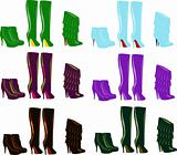 Autumn winter sexy boots,color silhouettes of woman shoes, part